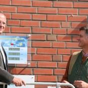Einweihung der Fotovoltaikanlage durch Landrat Bodo Ihrke und Geschäftsführer Ludolf von Maltzan